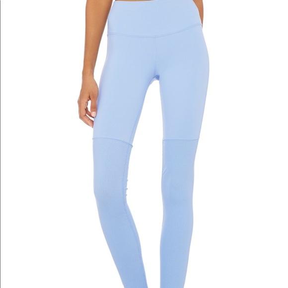 c6a5882561 ALO Yoga Pants   High Waist Goddess Leggings In Uv Blue   Poshmark